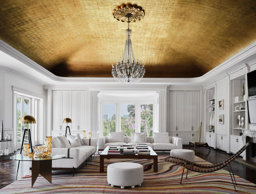 Max Azria's Holmby Hills Estate Family Room