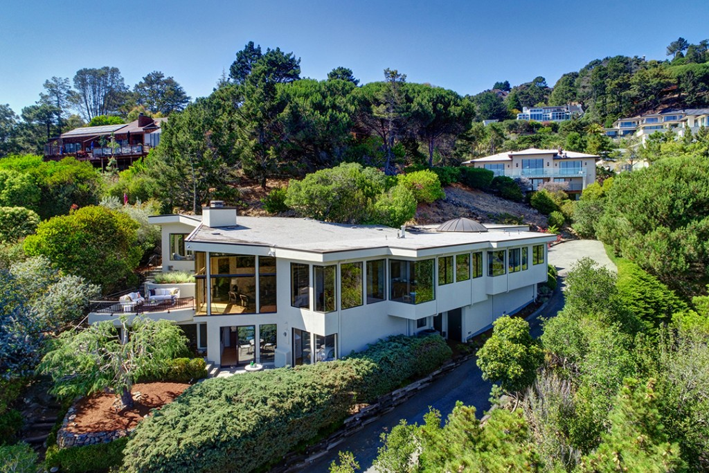 Musician Carlos Santana Lists Cool Contemporary In The Hills Of Tiburon Ca Aerial