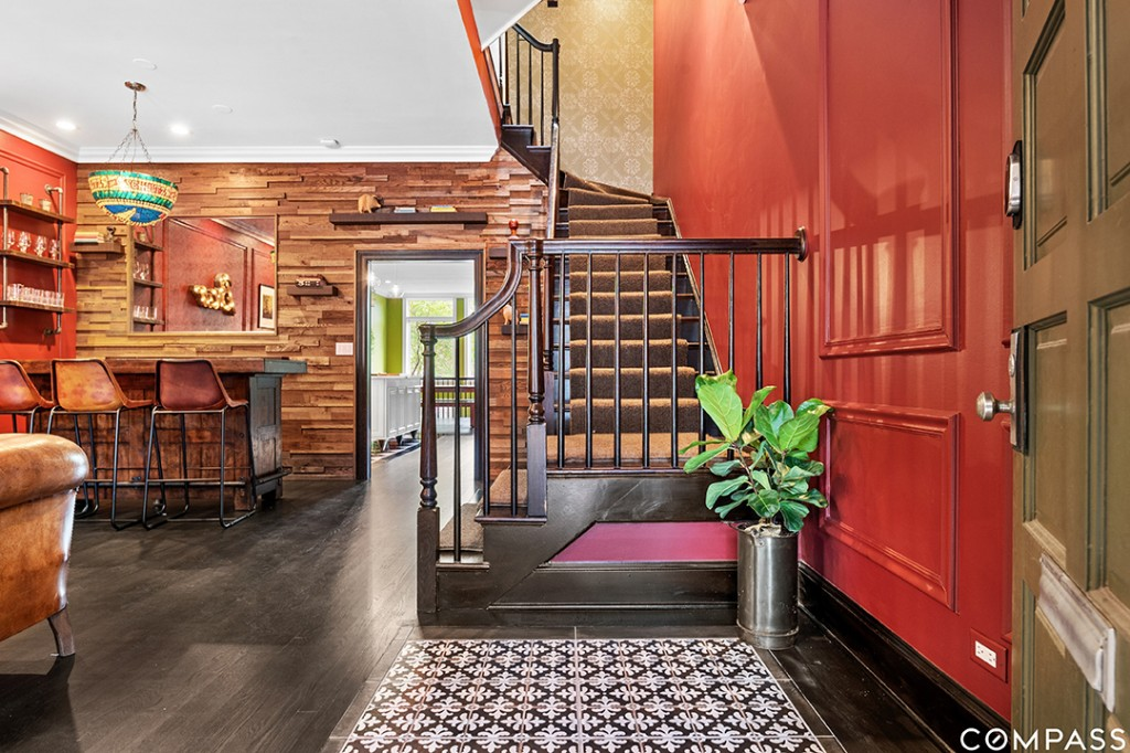Celebrity Chef Lists Chicago Townhouse Brimming With Eclectic Style Stairs