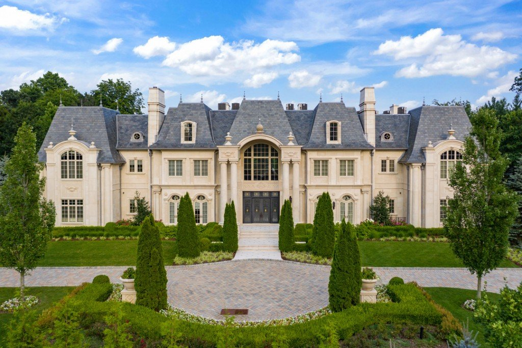 Chateau De La Roche Alpine New Jersey French Mansion Front Exterior