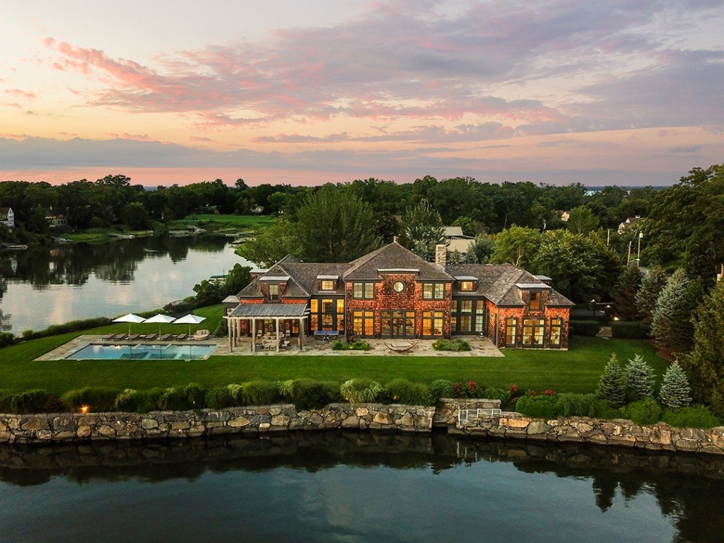 A Masterful Waterfront Modern In Mamaroneck Hits The Market Asking 9 2m Aerial C