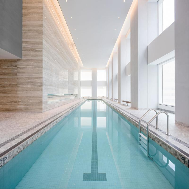Residents can take advantage of the building's indoor swimming pool.