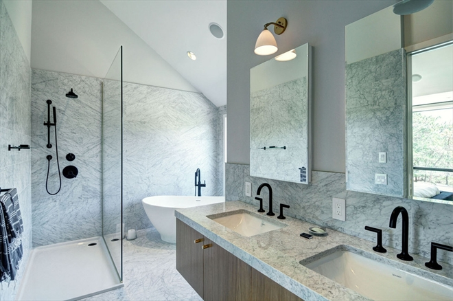 A peek at the luxurious  master bathroom.