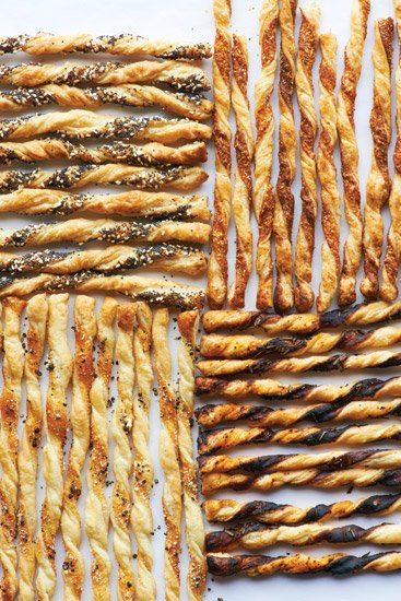 Martha Stewart's Puff Pastry Cheese Straws
