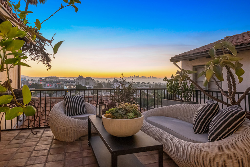 Terrace at Aaron Paul's Home