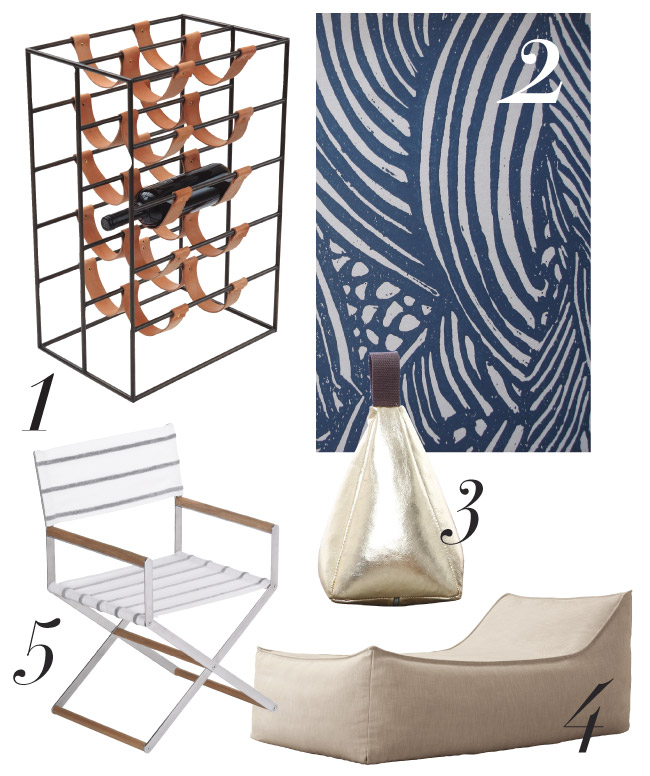 Design finds for the summer, from wine racks to dining chairs