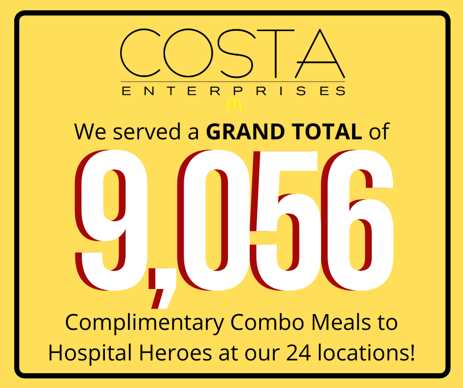 Costa Free Meal Grand Total