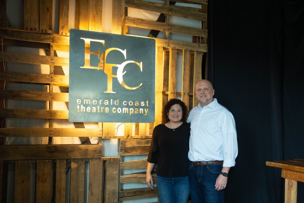 Anna and Nathanael Fisher at ECTC performance space