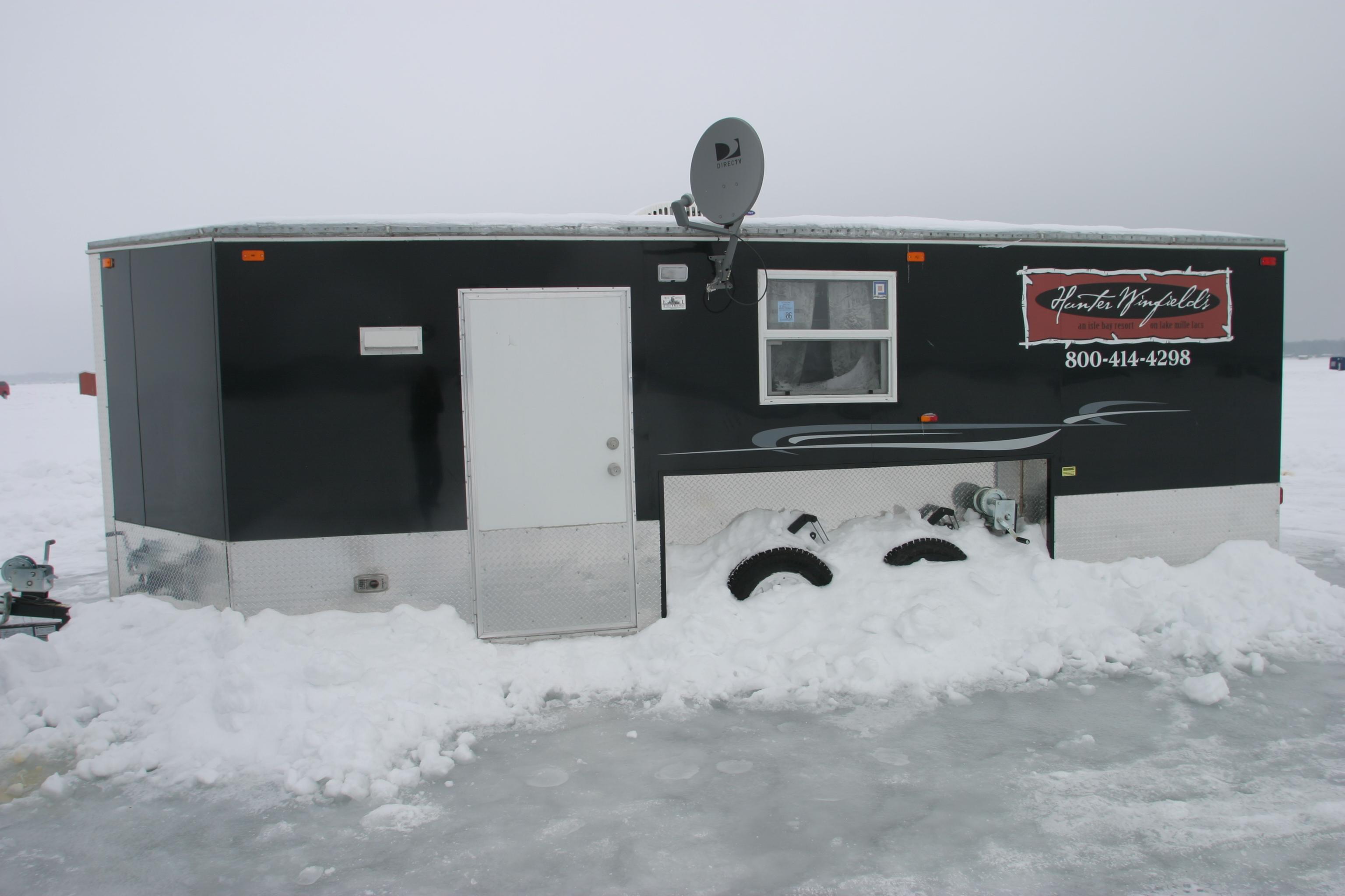 Minnesota Ice Anglers With Wheeled Fish Houses Need