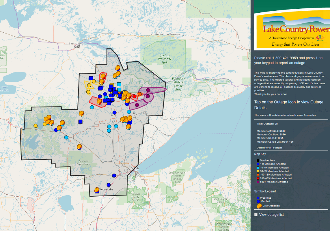 Power Outage Map Mn.Thousands Without Power After Severe Morning Storms Fox21online