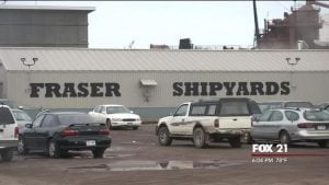 Fraser Shipyards Inc  Settles Lawsuits With Workers - Fox21Online