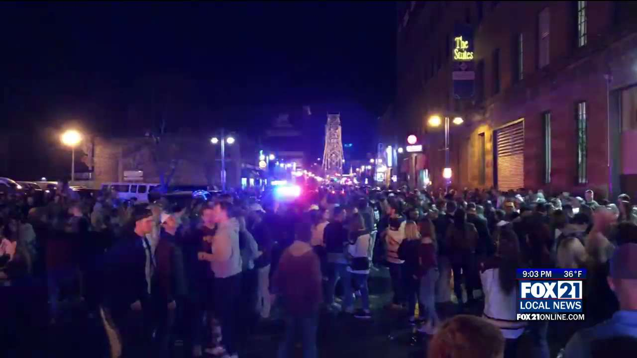 1 Arrested, Light Pole Toppled During Bulldogs Celebrations