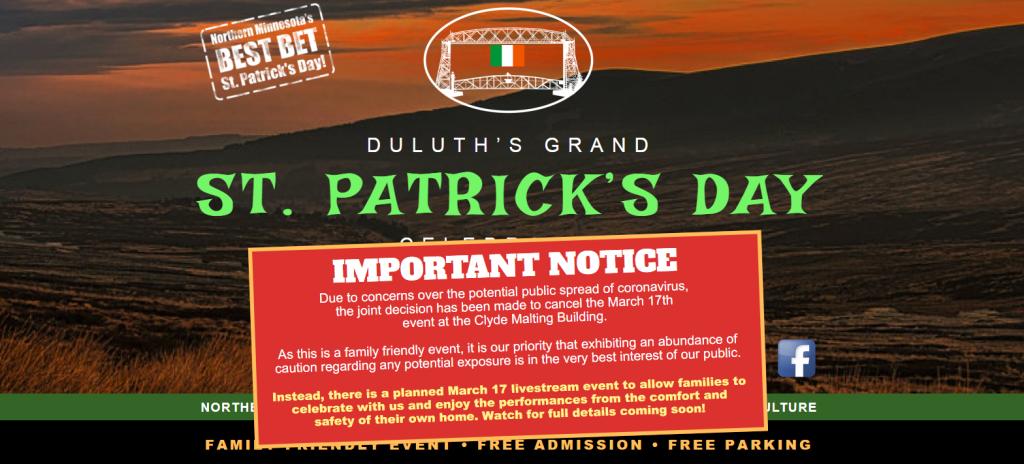 Saint Patrick's Day Cancelation