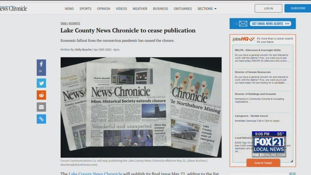 Chronicle To Close