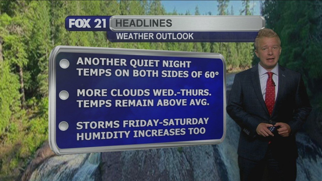 Tuesday, August 11th Evening Forecast
