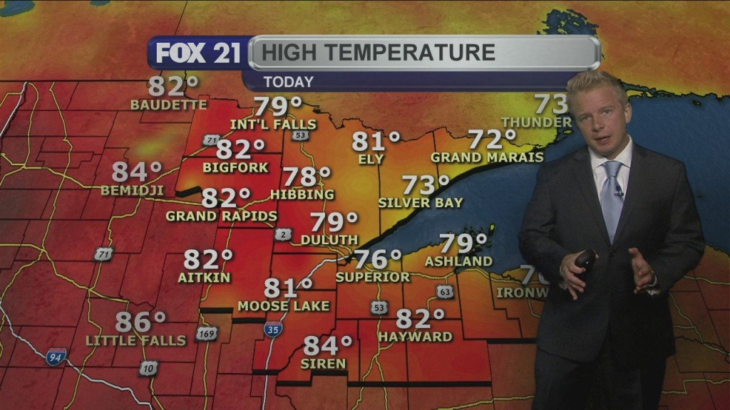 Sunday Evening, August 23rd Weather Forecast