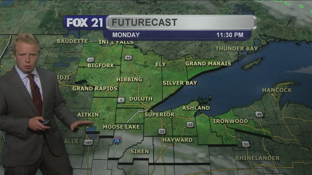 Monday Evening, August 24th Forecast