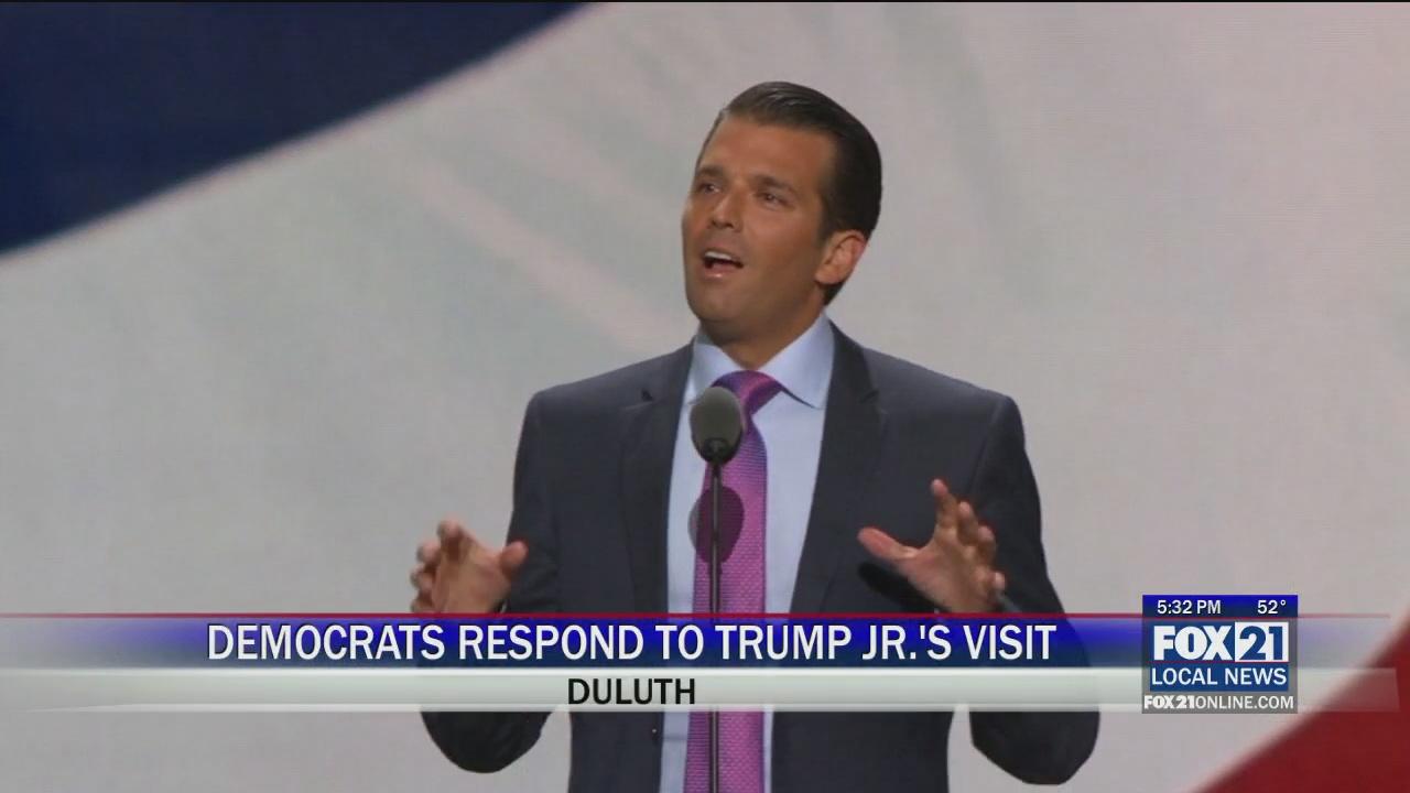Democrats Respond To Donald Trump Jr S Visit Fox21online
