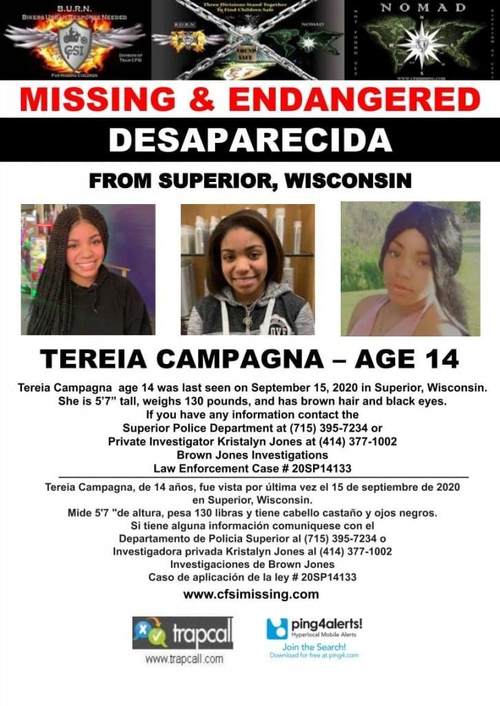 Tereia Campagna Missing