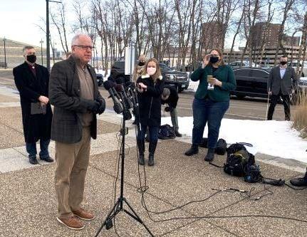 Tim Walz Capitol Security Presser