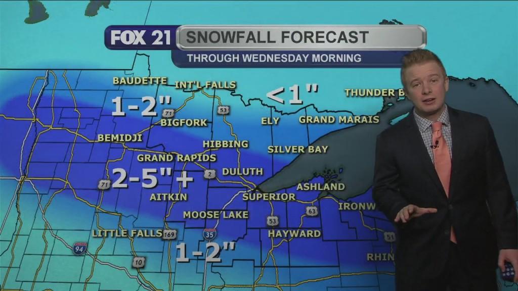 Monday Evening Northland Forecast