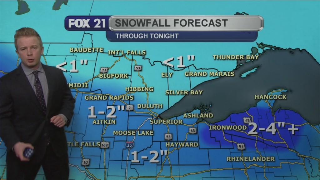Tuesday Evening Northland Forecast