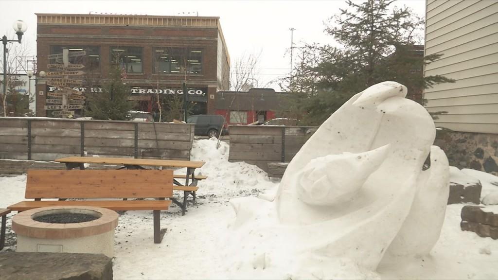 Snow Sculptures Photo