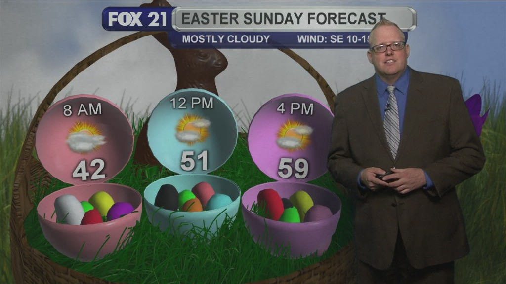 Northland Forecast For Easter Sunday And The Beginning Of The Week.
