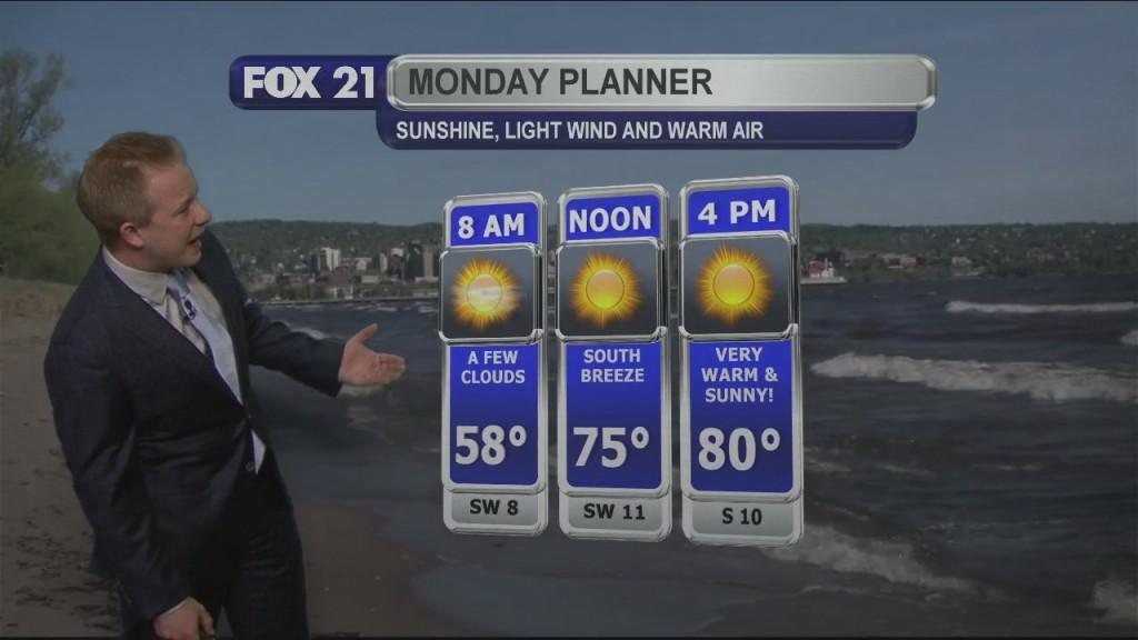 Sunday Evening Weather Forecast