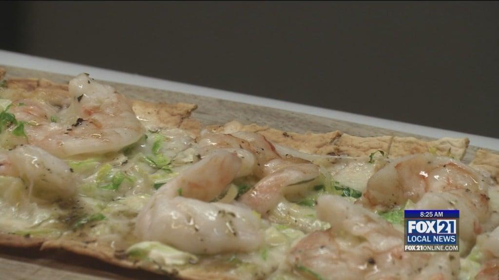 Cooking Shrimp Flatbread