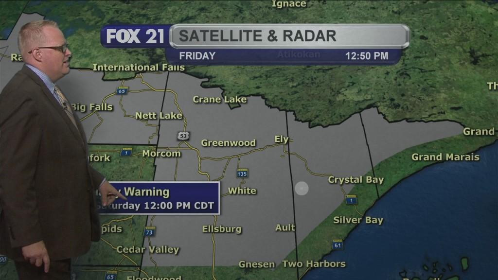 Friday Evening Northland Weather Forecast
