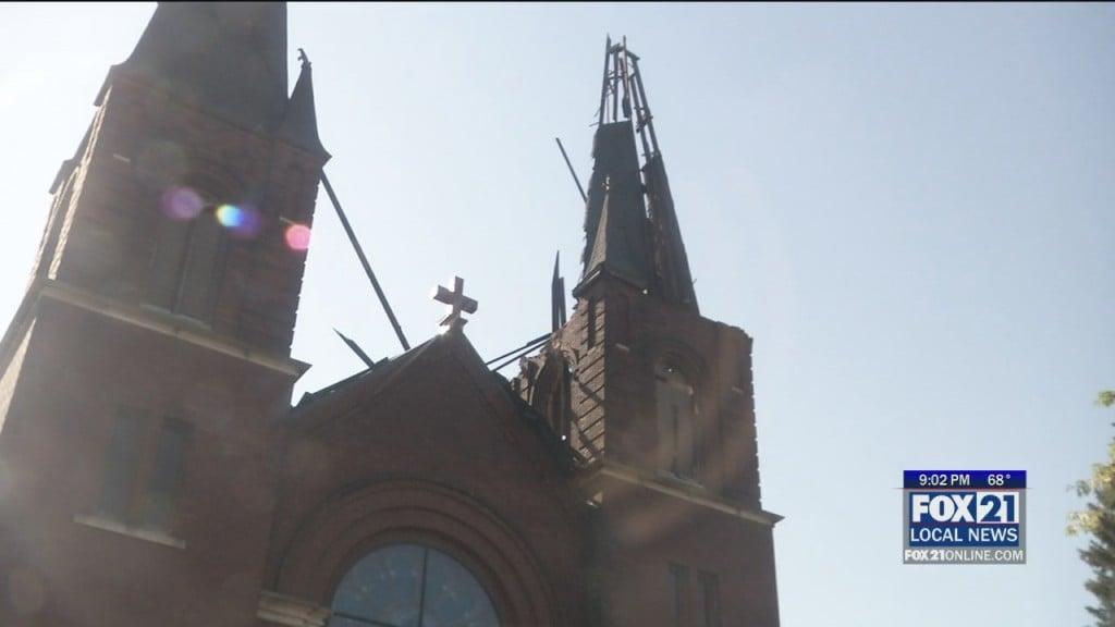 Lightning Strikes Church