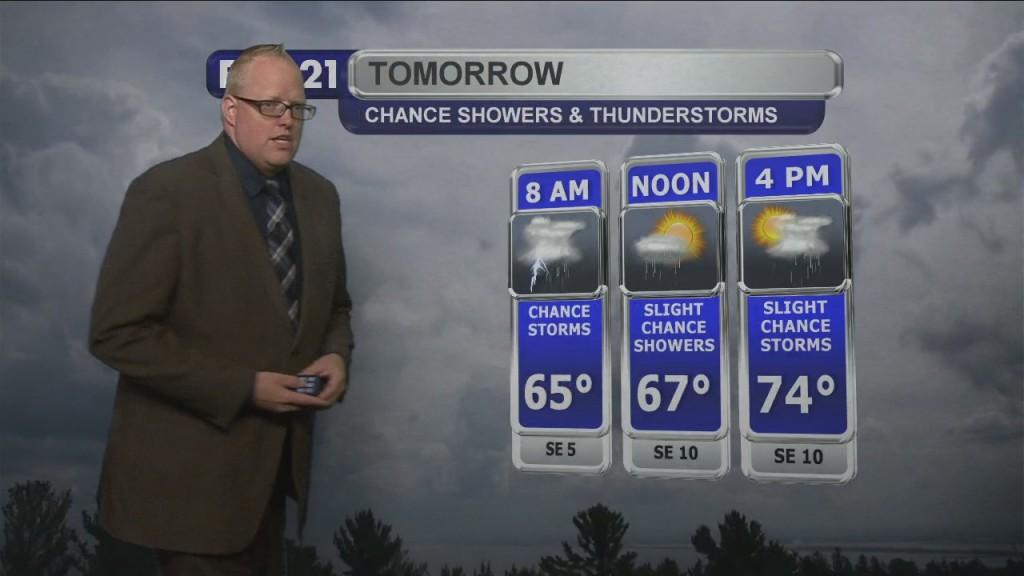 Saturday Evening Northland Weather Forecast