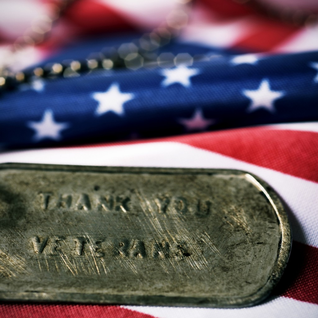 Text Thank You Veterans In A Dog Tag