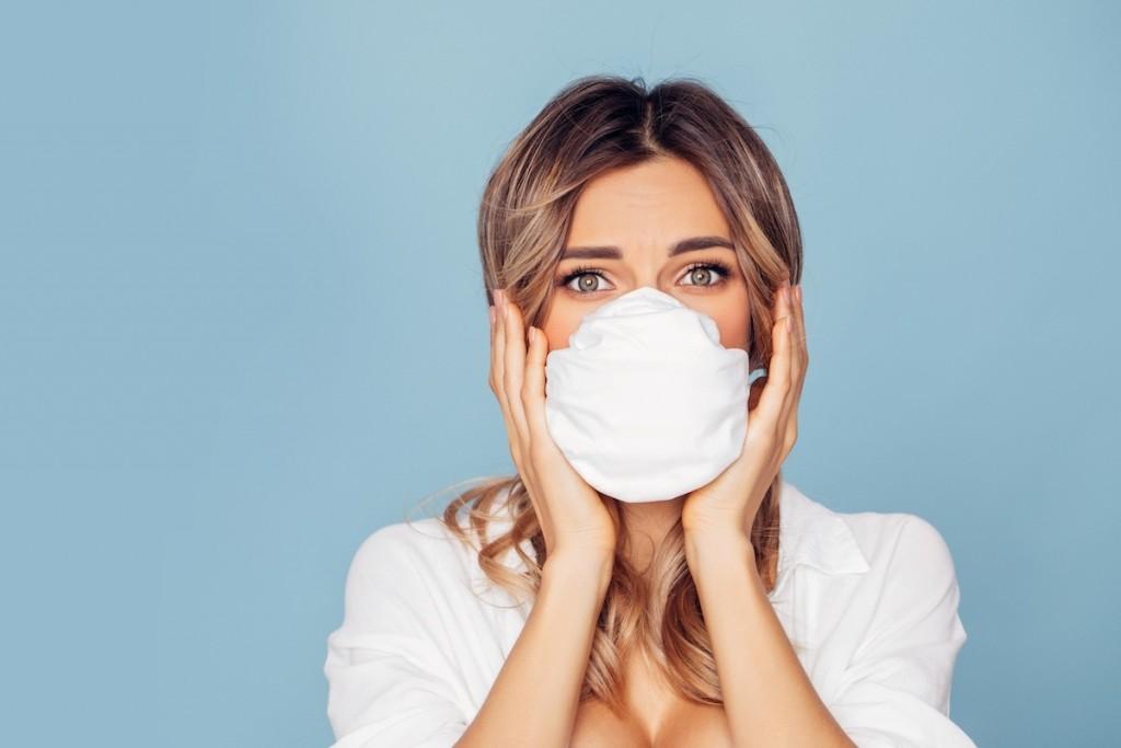 Girl In Respiratory Mask