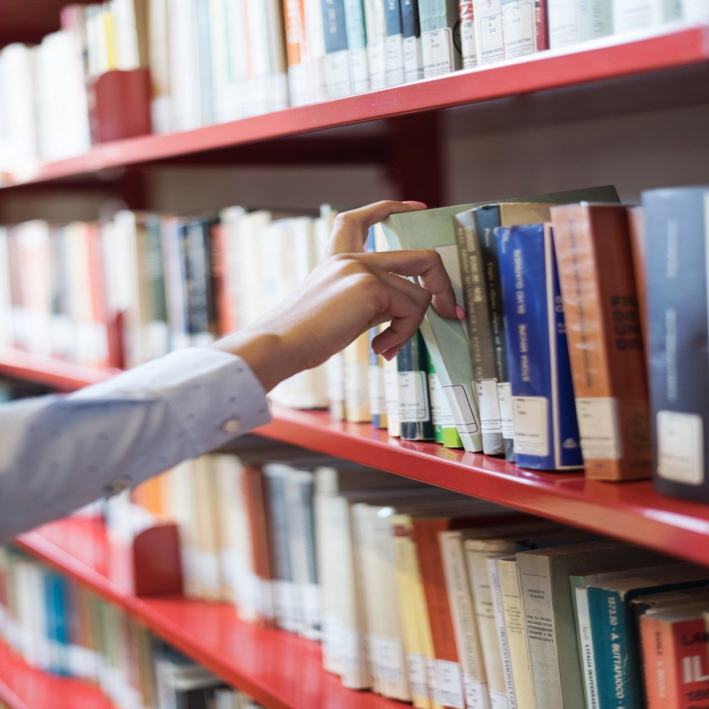 Student Searching Books