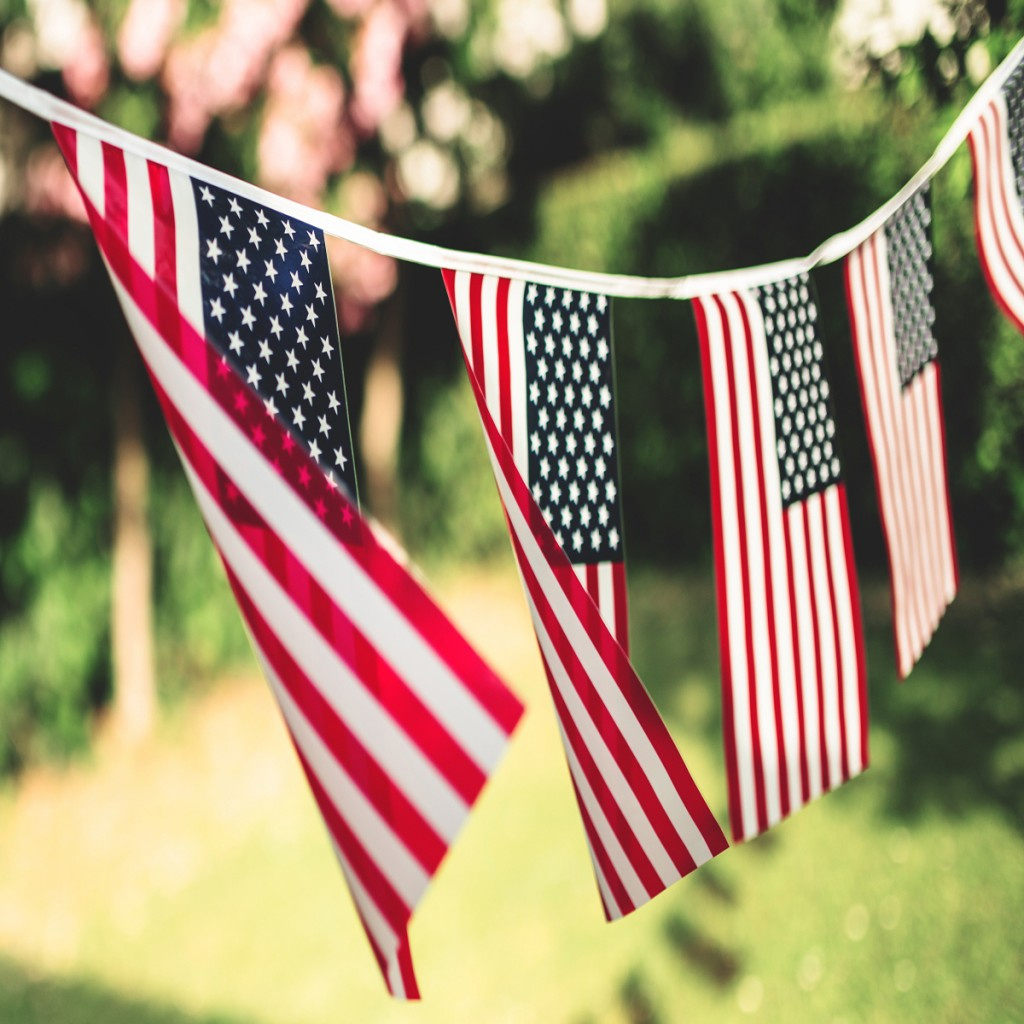 Us Flags Pennant Outdoors