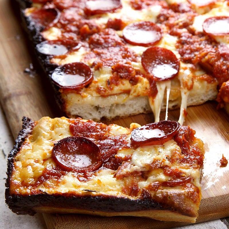 2 Detroit Style Pizza