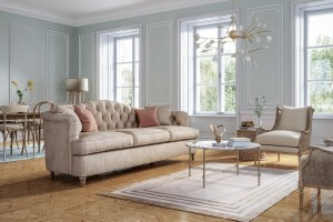 Classic Style Living Room Interior 3d Render