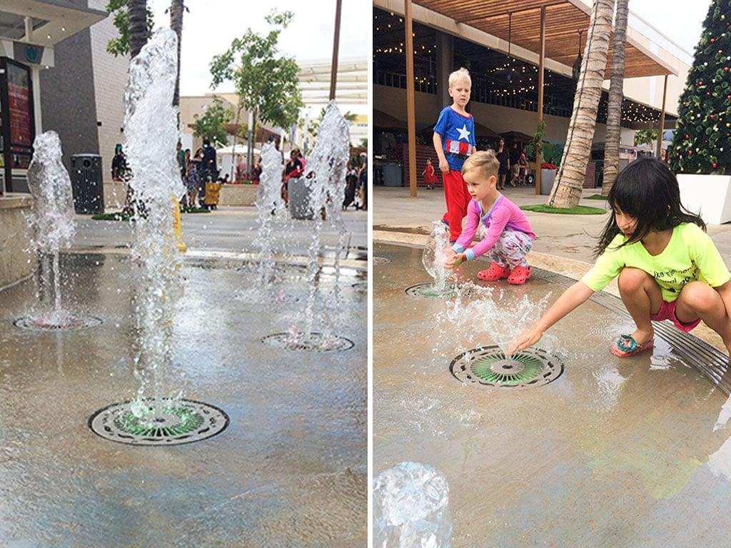 Water spouts at Ka Makana Ali'i