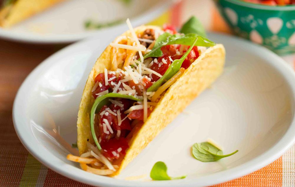 Tiki Grill & Bar Spaghetti tacos