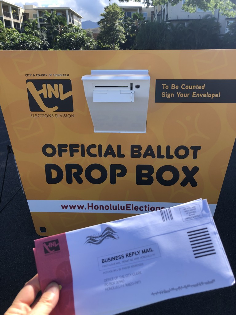 Ballot And Kailua Drop Box Robbie Dingeman