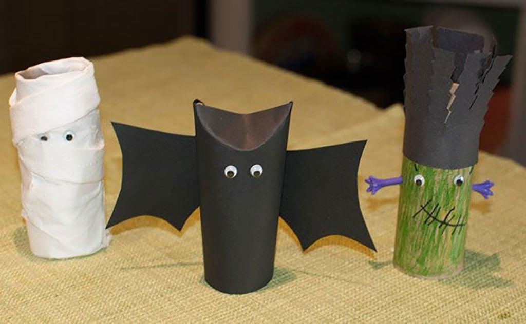 Halloween Toilet Paper Tube Decorations