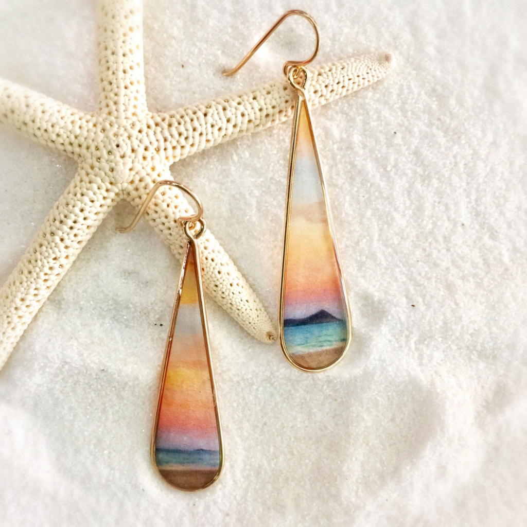 Sunset Is My Favorite Color Earrings Foterra Jewlery