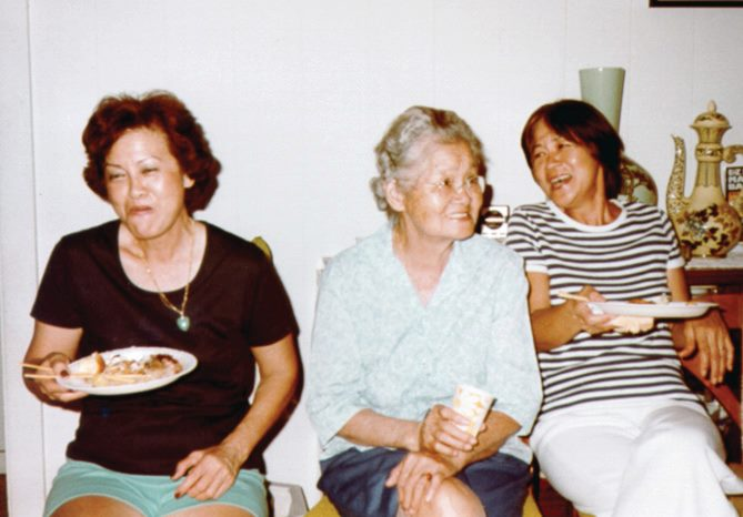 From left: My mom, Popo, and Aunty Irma.