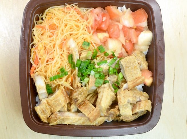 7-Eleven Fried Pork Belly and Pancit Bento 2
