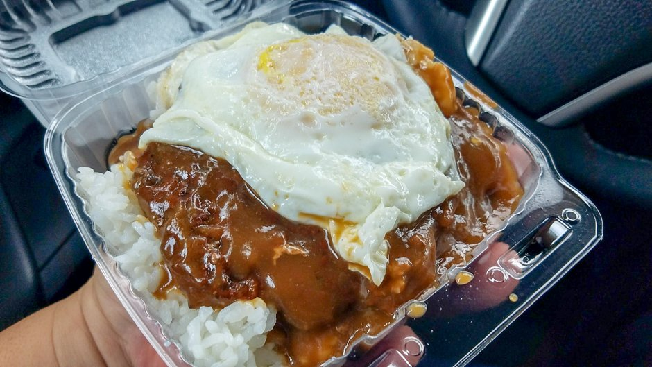 classic takeout loco moco covered in gravy