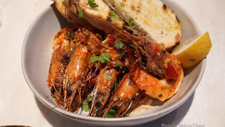 Calabrian chili garlic shrimp