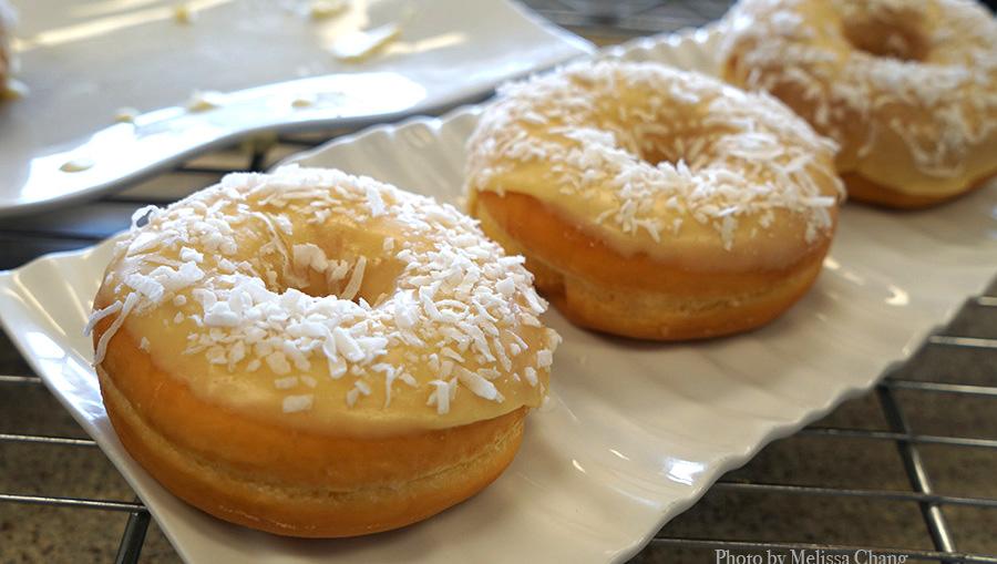 coconut lilikoi donuts