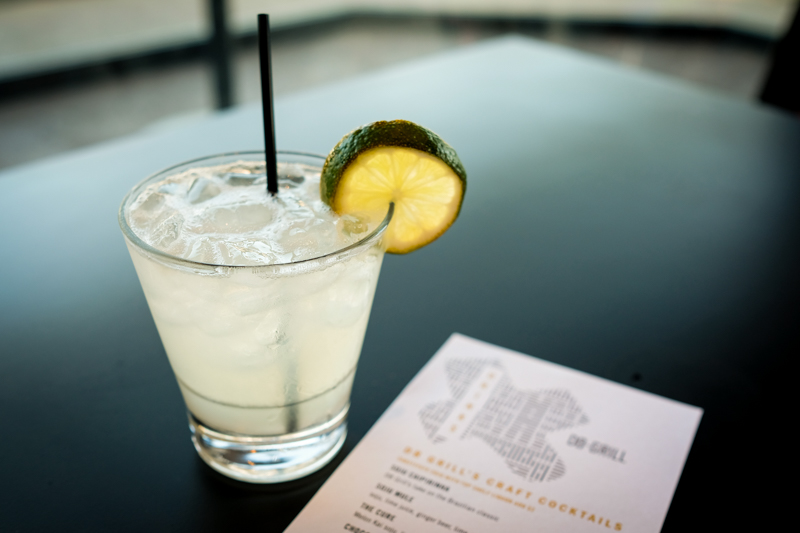 The soju caipirinha ($8) is a refreshing way to imbibe.